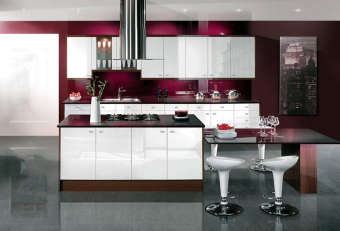 gloss modern modular kitchen