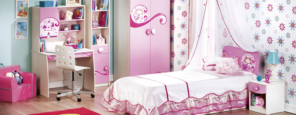 Pink-bookcase-wardrobe-chair-beddings