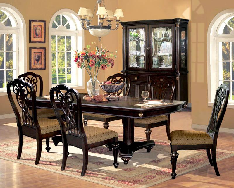 warn brown Victorian dining room