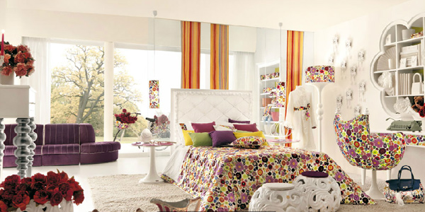 bright colours for beddings and allow more light