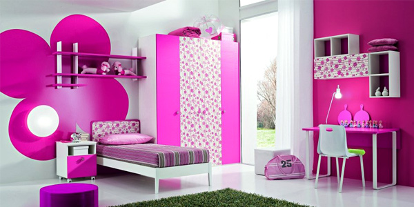 use bright-paint and prints for kid's room