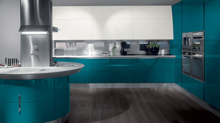 The Flux kitchen, styled by Giugiaro Design