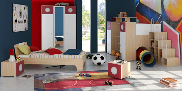 kids room with educational stuff