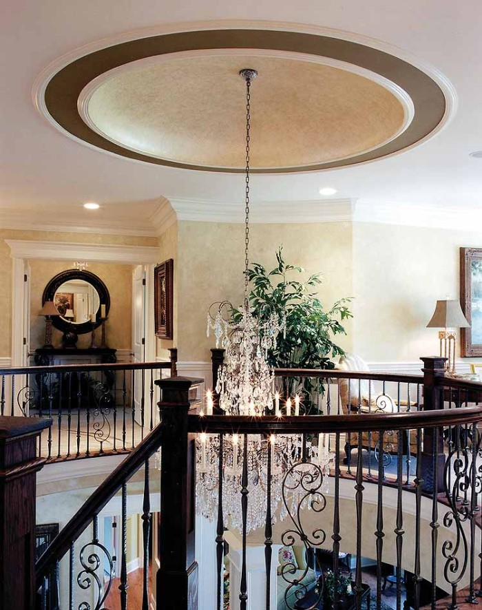 stair way with beautful chandeliers