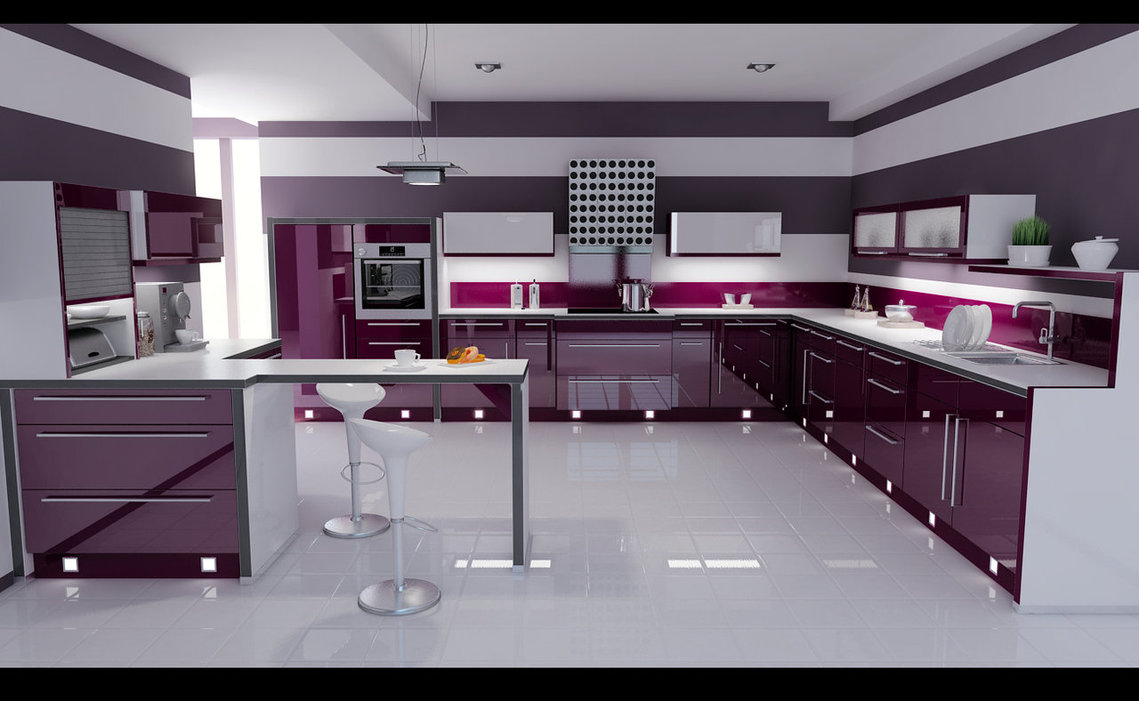 High Gloss Kitchen Design Ideas ~ High gloss kitchen designs interior design ideas