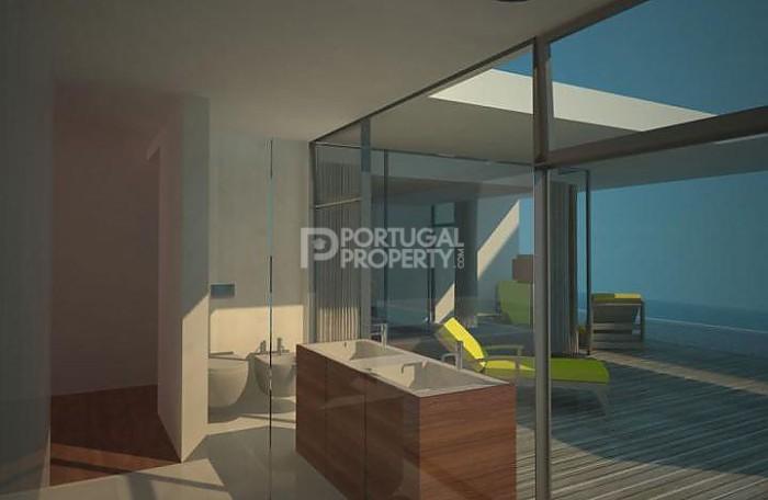 Glass Bathroom with sea views