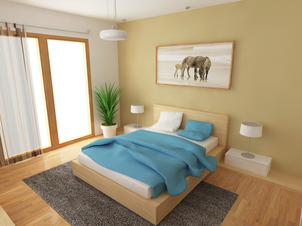 leave space in bedroom