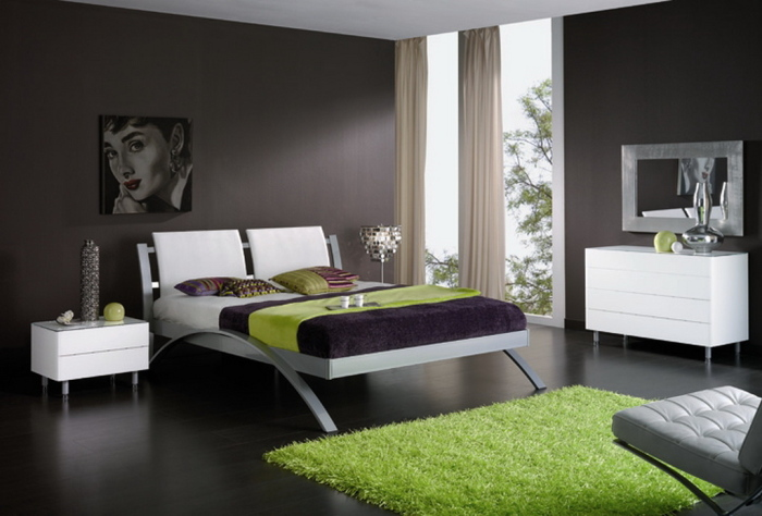furnutured bedroom with the modermed beautiful