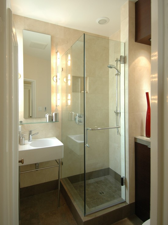 Glassy Cream Bathroom
