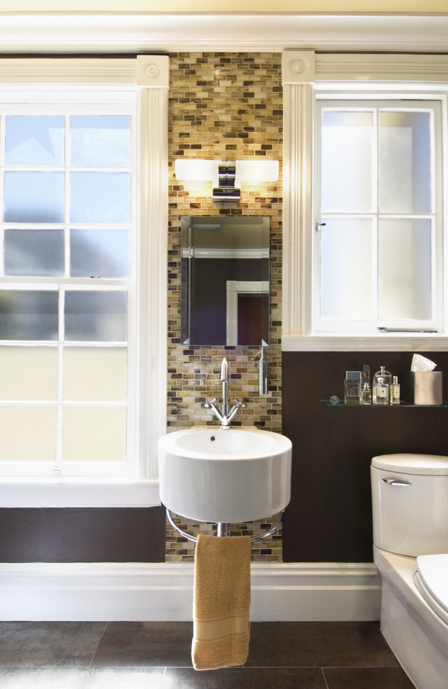 Tiles and Mosaic Designed Bathroom