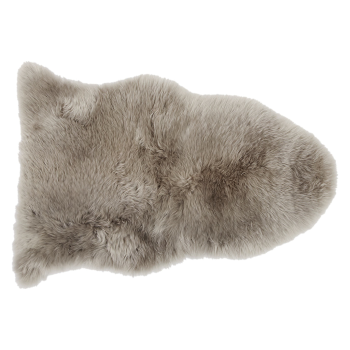 faded white chocolate sheepskin rug