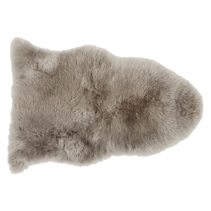 faded white chocolate sheepskin rug