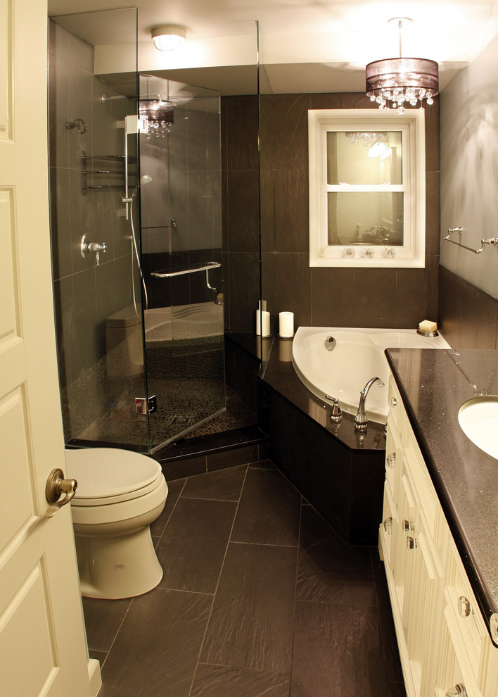 Functional bathrooms ideas for small bathrooms for Dark bathrooms design