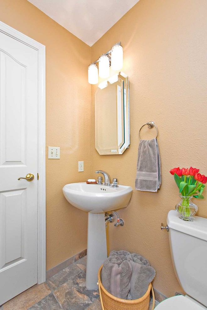 Light Coral Traditional Bathroom