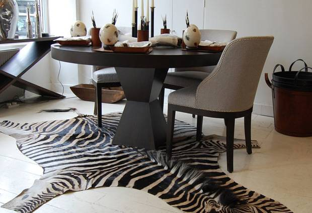 Zebra Stripes sheep rug