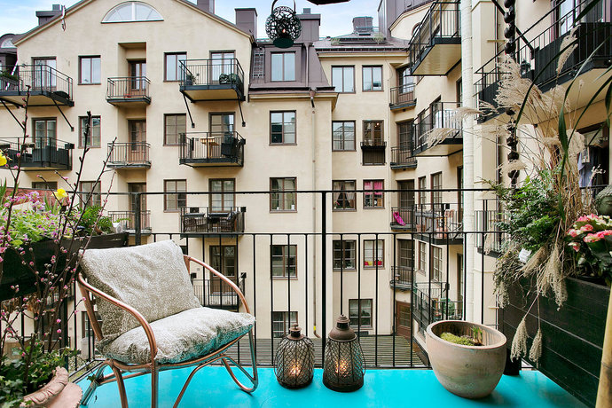 6 Scandinavian balcony and Patio City Norrmalm