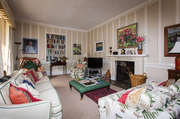 A Contemporary Mansion Living Room Idea