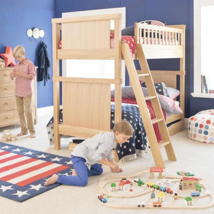 American Flag Boys Bunk Bed Room .3