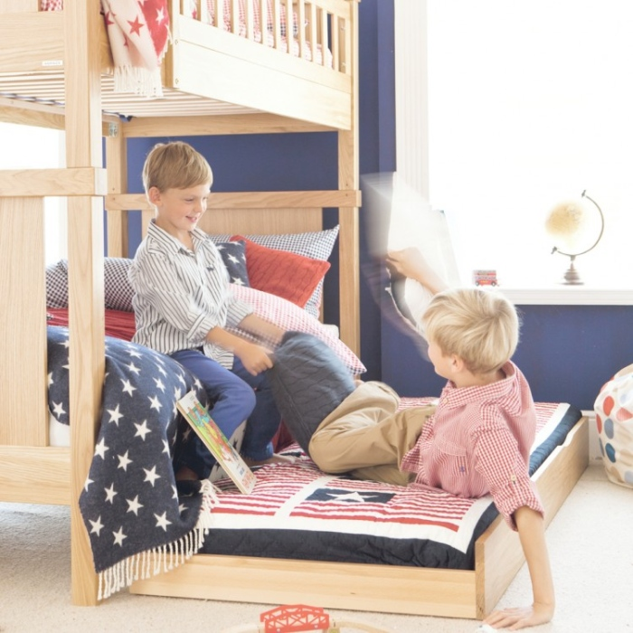 American Flag Boys Bunk Bed  With Extra Bed .4