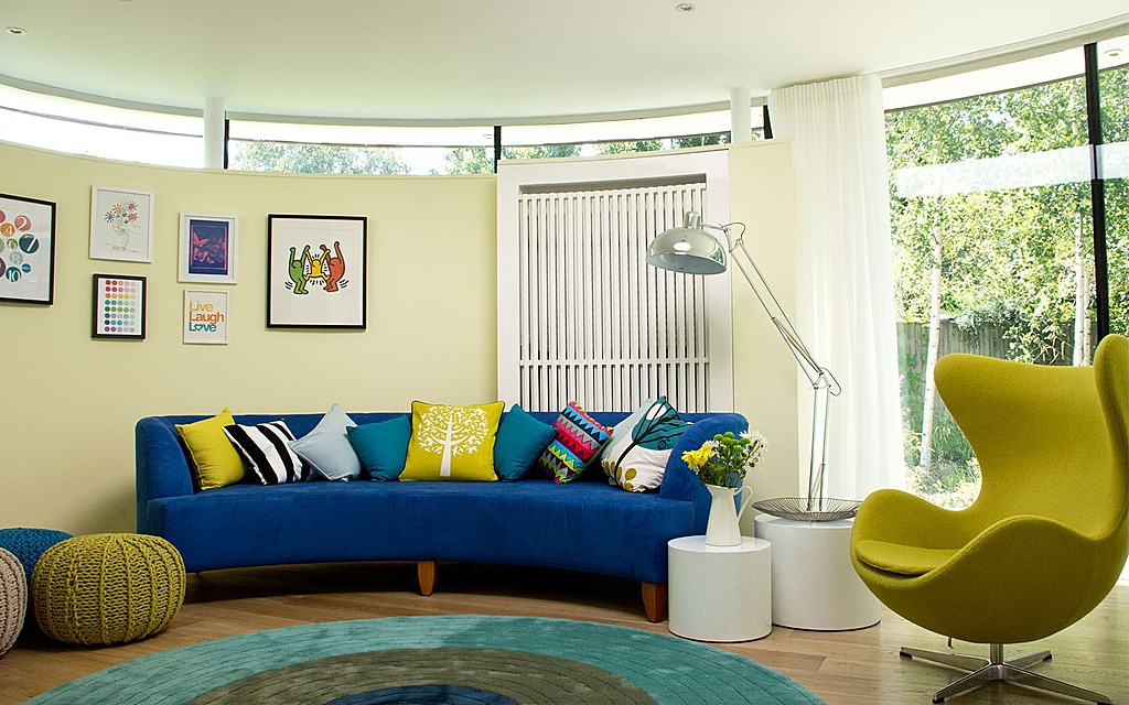 bright living room colour