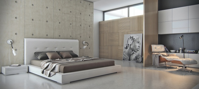 Concrete-bedroom