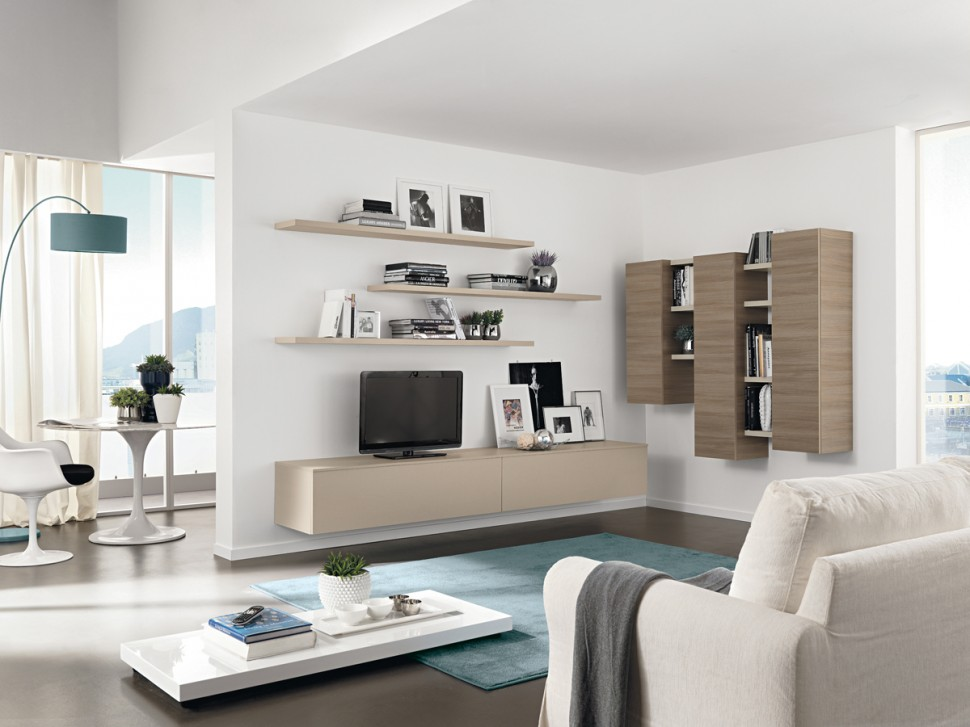 Contemporary Wall Unit Storage