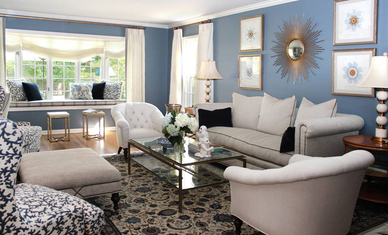 Black grey and blue living room living room design - Grey and blue living room ...