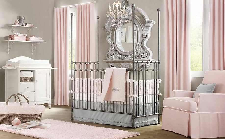 10 stunning pink girl nursery ideas for your baby girl. Black Bedroom Furniture Sets. Home Design Ideas