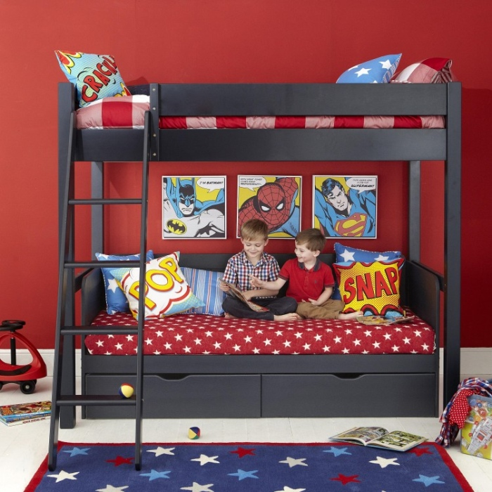 Super Man Boys Bedroom Bunk Bed .2