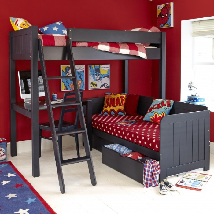 Super Man Boys Bedroom Bunk Bed.10