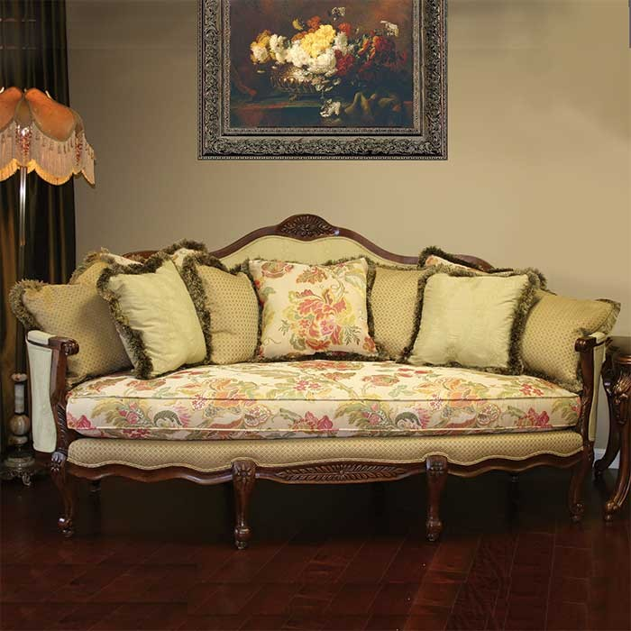 Victorian style Allison Rose Sofa