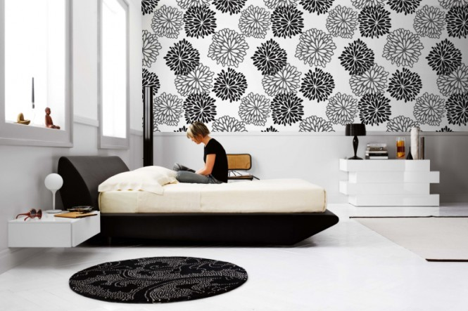 bedroom-monochrome-wall-mural