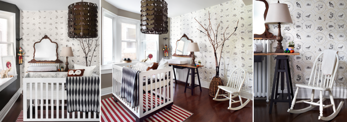birds-and-butterfly-wall-paer-baby-bedroom-design