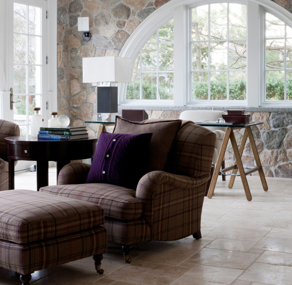 Living room intriors with big window