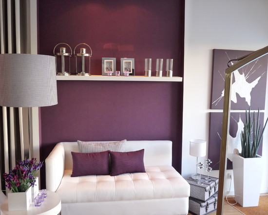 10 ravish modern purple bedroom ideas for Purple bedroom designs modern