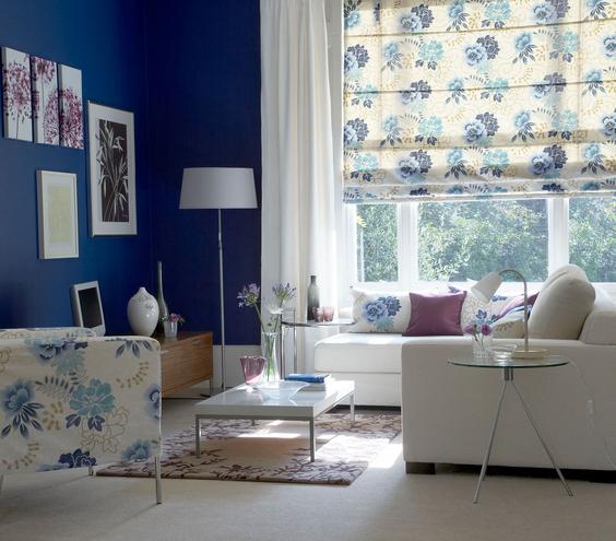 floral-blue-room interiors