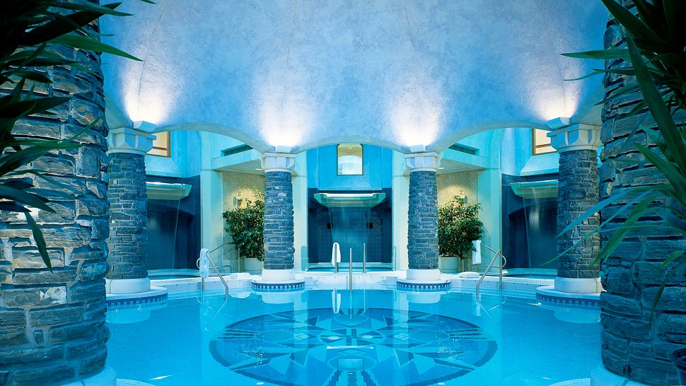 calming indoor swimming pool