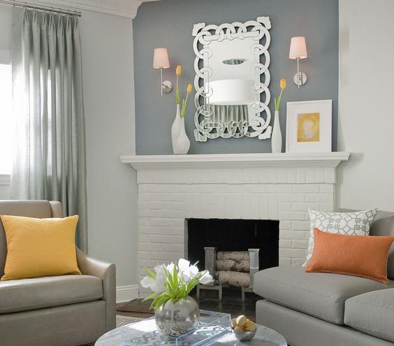 Metallic Living room interiors