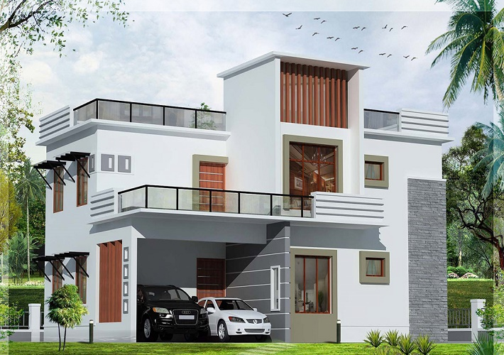 10 stunning modern house models designs for Home front design model