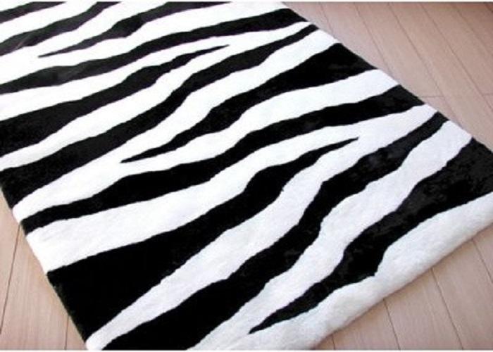 modern zebra sheepskin rug design