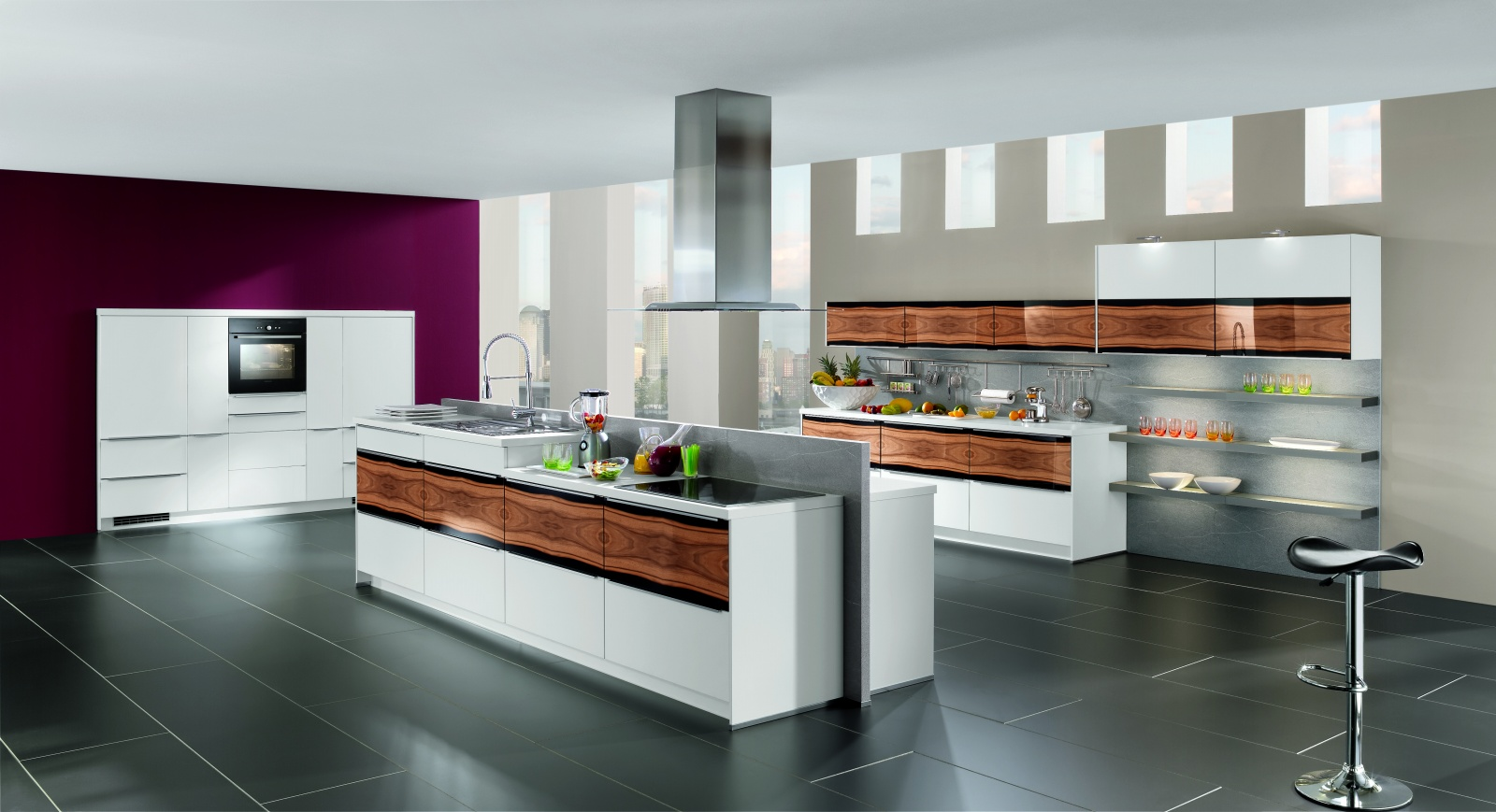 10 light wood beautiful contemporary nobilia kitchen designs for Kitchen arrangement layout