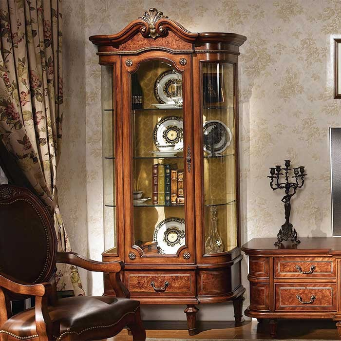 victorian style one door curio design