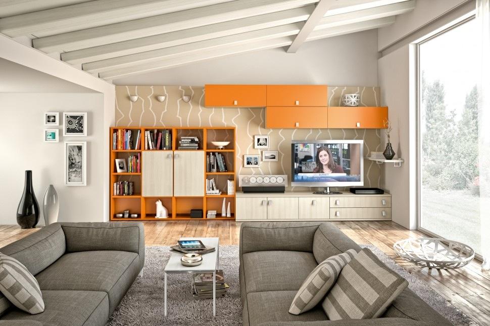 orange-built-it-wall-storage-unit