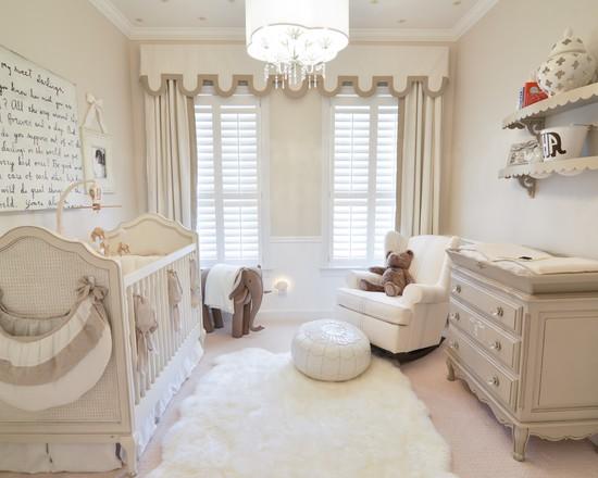 white baby nursery