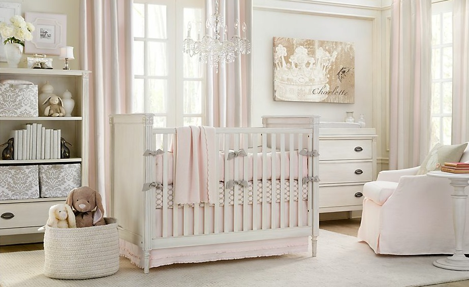 10 stunning pink girl nursery ideas for your baby girl for Baby room design ideas
