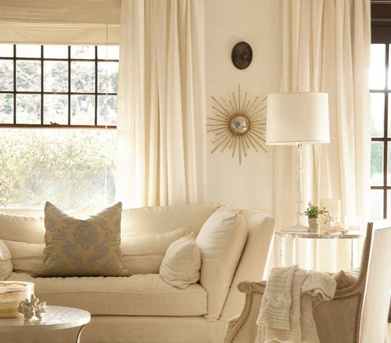 White on White living room
