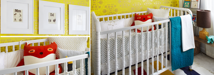 yellow-andwhite-baby-bedroom-design
