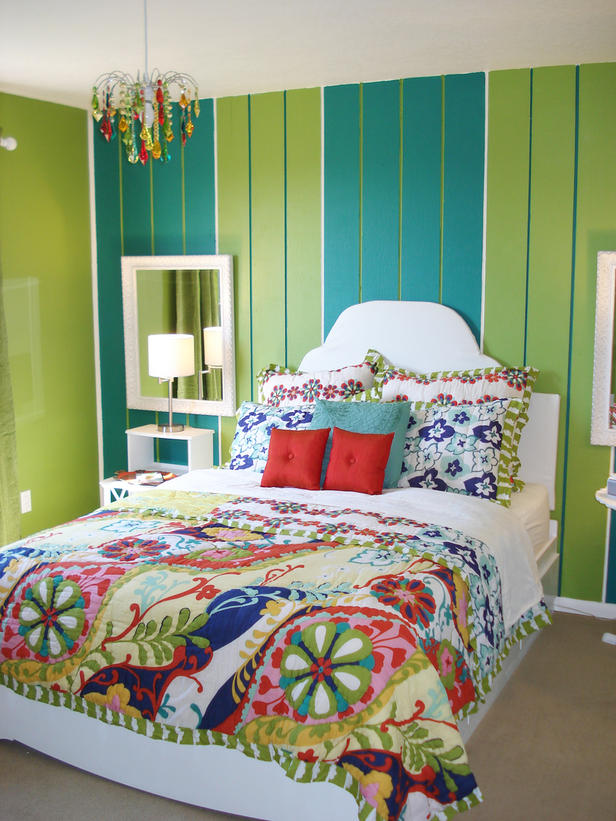 Nesting Striped Teen Bedroom