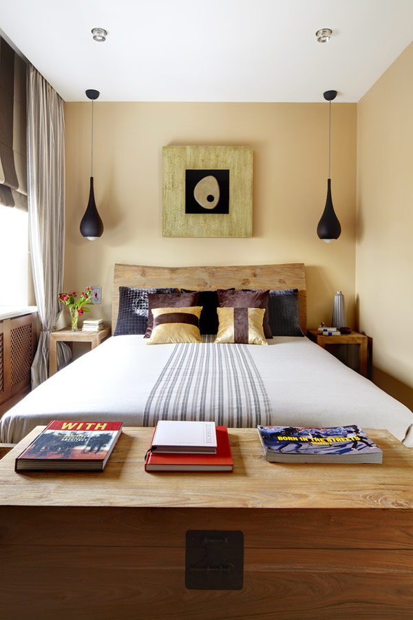 Organized Small Bedroom with Furniture Decoration