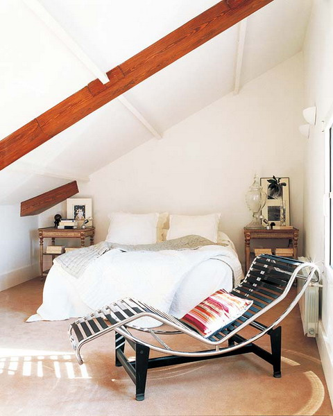 Bright and Sunny Attic Bedroom